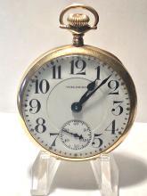 Rare 14K gold Waltham 23 Jewels Railroad pocket watch.