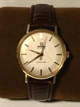 PRISTINE 14K GOLD OMEGA SEAMASTER AUTOMATIC MEN'S WRISTWATCH.