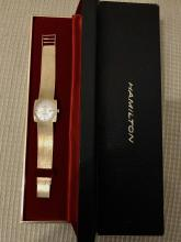 MINT VINTAGE 14K SOLID GOLD HAMILTON AUTOMATIC MEN'S WRISTWATCH WITH BOX