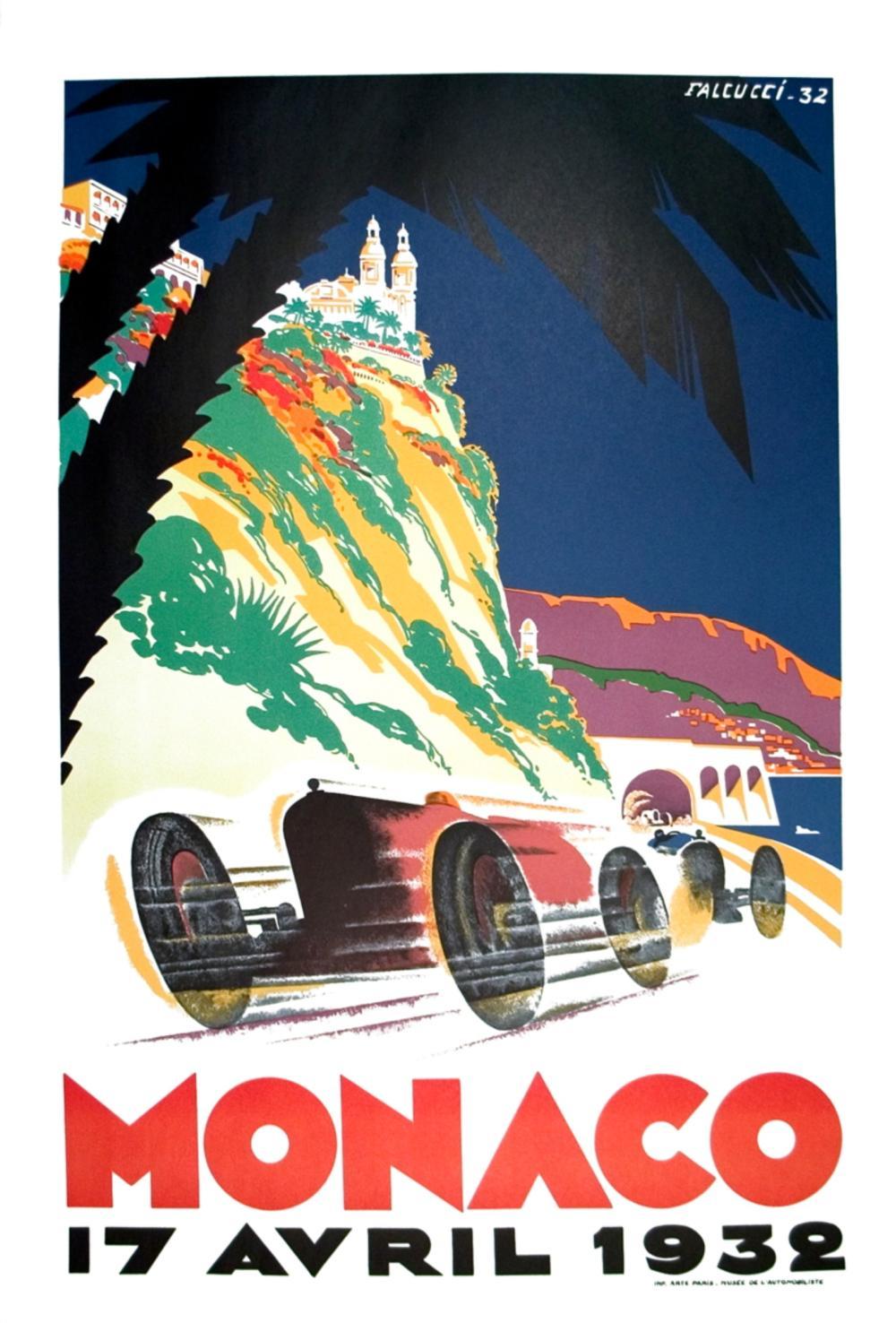 Monaco Grand Prix 1959-2002 Lithograph