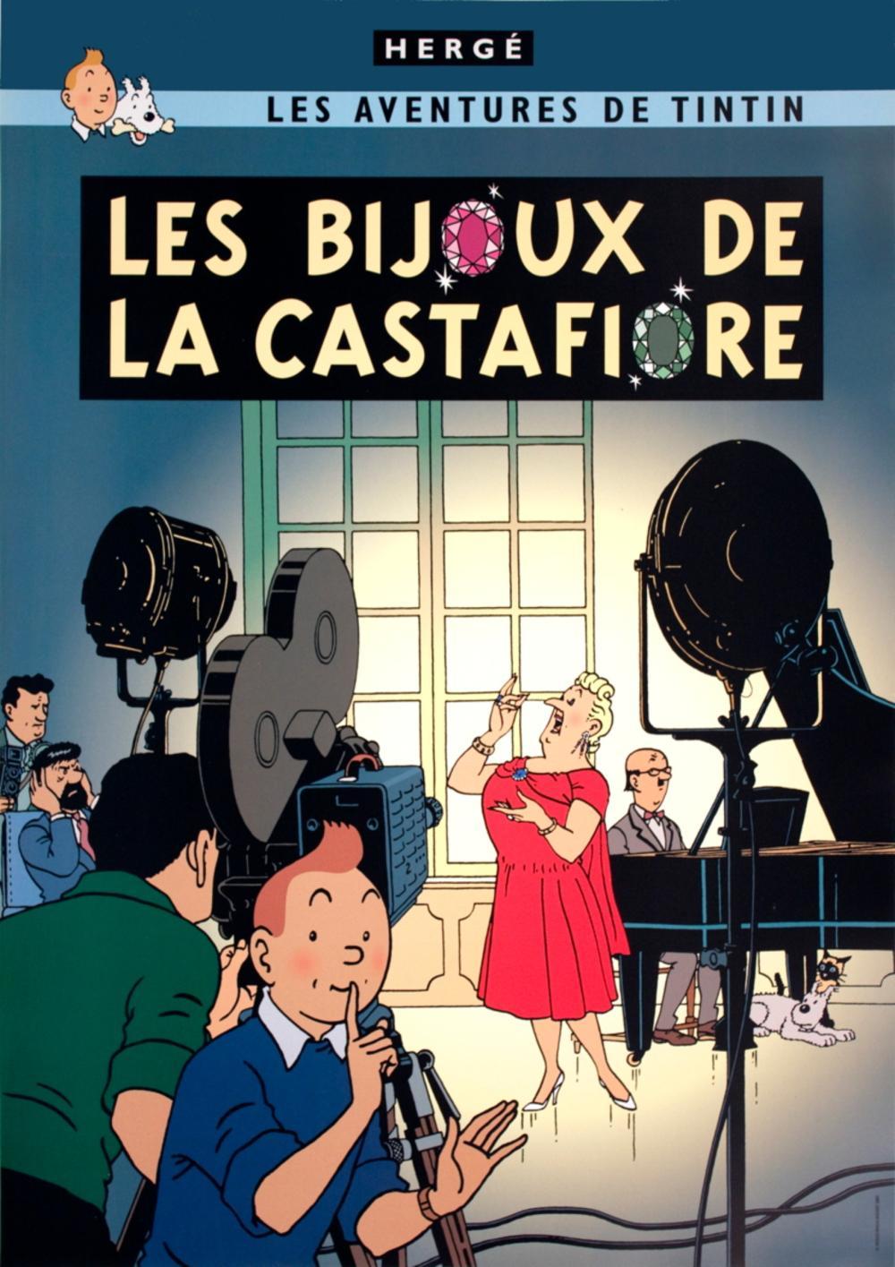 """Le Secret de La Licorne 27.5/"""" x 19.5/"""" Poster HERGE Les Aventures de Tintin"""