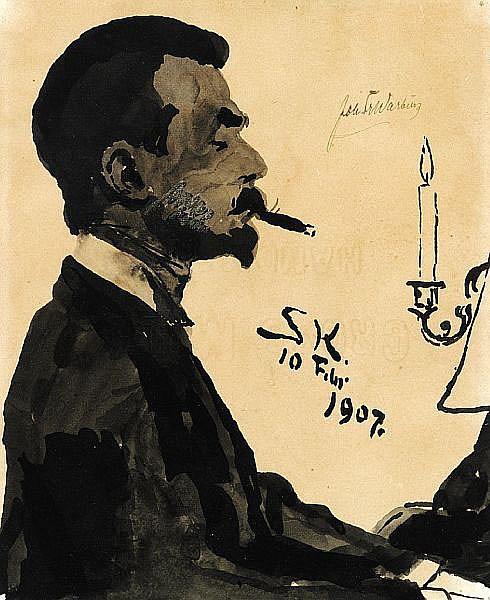 P. S. Krøyer: Portrait of Joh. Fr. Warburg.