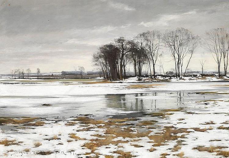Sigvard Hansen: Winter landscape.