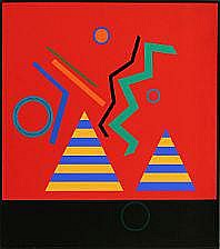 Mogens Lohmann: Composition A.M.VII. Signed on the