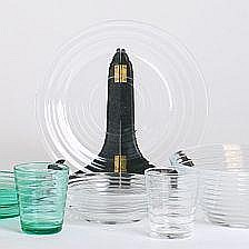 Aino Aalto: A glass tableware set consiting of 20