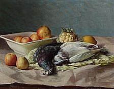 : Sophus Vermehren: Nature morte. Signed S.
