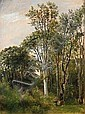 : C. F. Aagaard: Forest glade. Signed on the, Carl Frederik Aagaard, Click for value