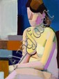 Vilhelm Lundstrøm: Seated model, 1937. Signed on the reverse. Oil on canvas. 120 x 90 cm.