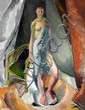 Jais Nielsen: Interior with young girl, Paris. Signed Jais 16. Oil on canvas. 100 x 79 cm.