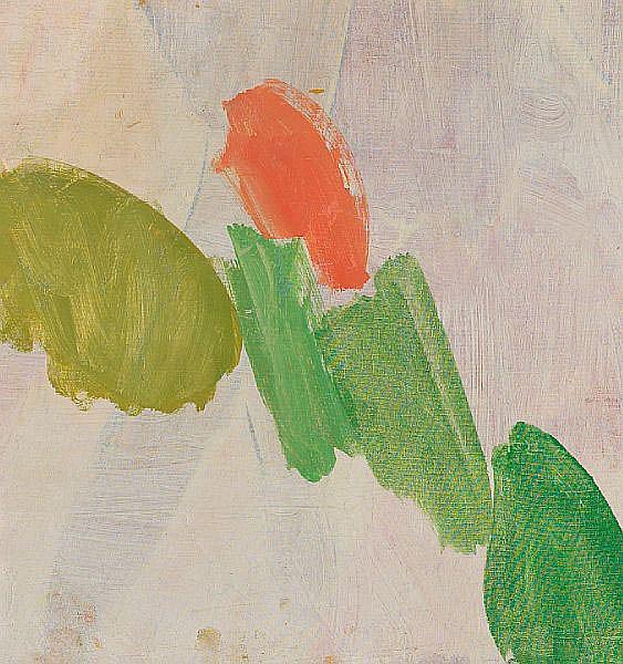 Edvard Weie: Composition. Signed on the reverse Edvard Weie. Oil on canvas. 54 x 51 cm.