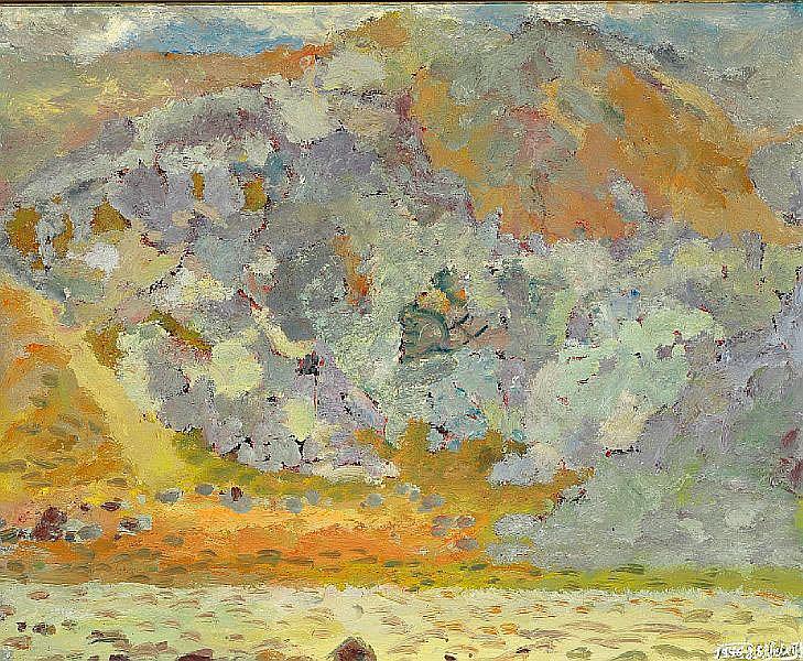 Johannes S. Kjarval: Landscape. Signed and dated J. S. Kjarval 1946. Oil on canvas. 80 x 98 cm.
