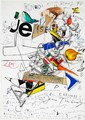 Jean Tinguely: Composition. Sign. Jean Tinguely 13. August 72. Collage. 34 x 24 cm.