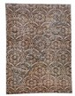 A modern woven carpet in all over design of palmettes in soft colors. 21st century. 370 x 273 cm.