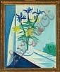 Axel Bentzen Flowers on a windowsill. Signed, Axel Bentzen, Click for value