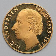 Hans Christian Andersen gold Medal 1975, in box of