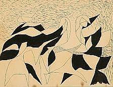 Richard Mortensen: Composition, c. 1940. Indian