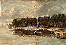E. Rasmussen Eilersen: Coastal scene from