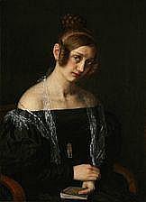 Johan Vilhelm Gertner: Portrait of Cecilie Bøving