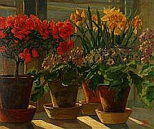 Olga Alexandrovna: Window frame with flowering