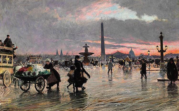 Paul Fischer: Place de la Concorde in Paris.