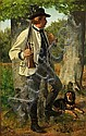 Jørgen Roed: A hunter with his dog., Jorgen Roed, Click for value