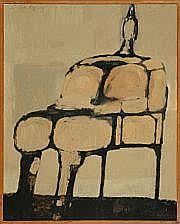 Leo Van Roy: Composition. Sign. L. Van Roy 57. Oil