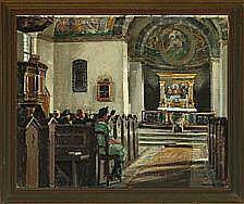 Niels Holbak: Church interior, Vor Frelser Kirke