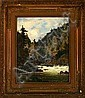 Georg Emil Libert: View from Vrangfoss, Norway., Georg Emil Libert, Click for value