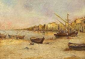 Henry Malfroy: Havneparti fra Martiques Category: Paintings