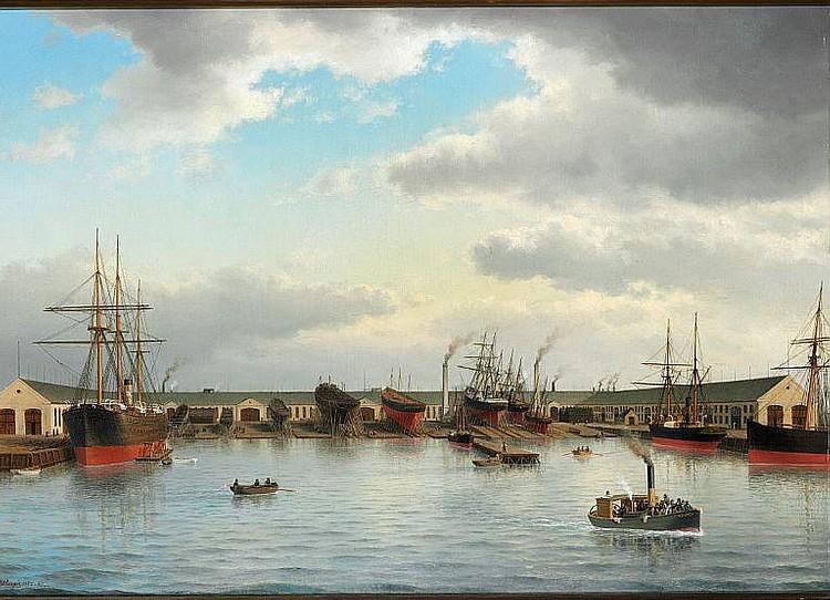 Carl Baagøe: Burmeister & Wain's shipyard at Refshaleøen in Copenhagen.