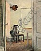 Peter Ilsted: Interior from Liselund manor with an umbrella and a top hat on a hook., Peter Ilstedt, Click for value