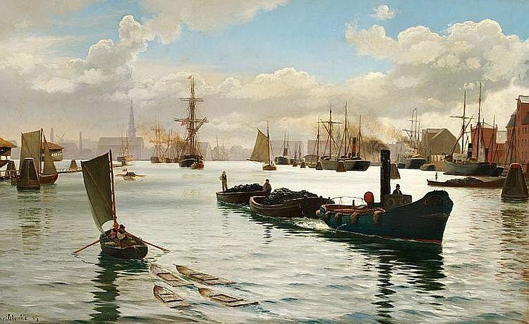 Christian Blache: View of Copenhagen Harbour.