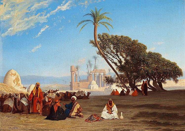 Charles Théodore Frère: Arabs camping.