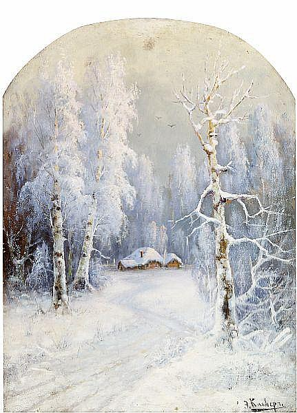 Karl Rosen, E. Klever: A pair of Russian summer and winter landscapes.