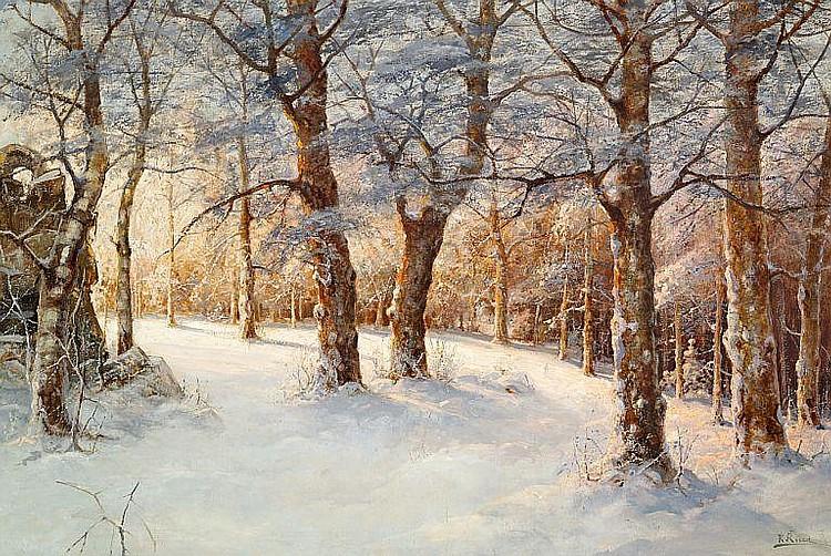 Karl Rosen: Sunny day in the woods, winter.