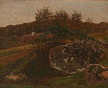 Johan Didrik Frisch: Landscape with pieces of