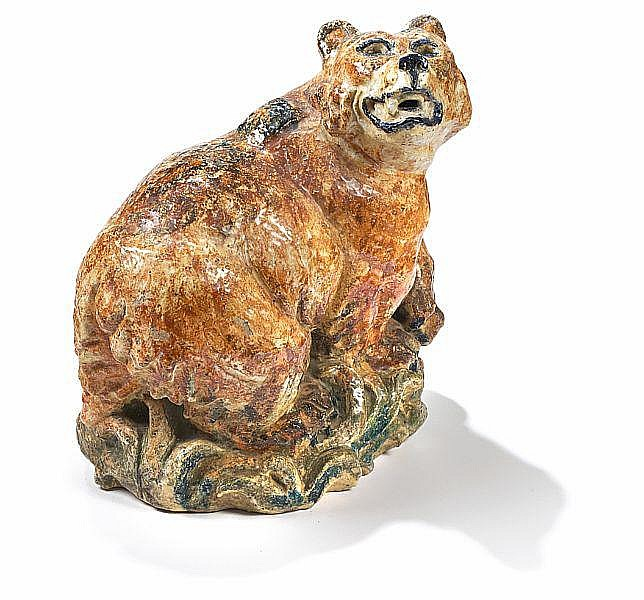 Knud Kyhn: Stoneware figure in the shape of a bear. H. 57 cm.