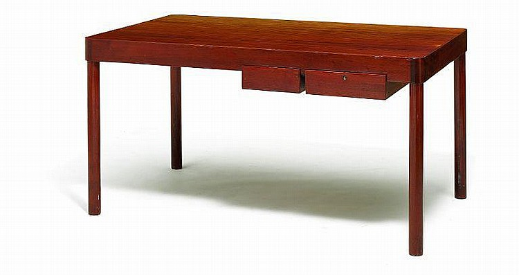 Arne Jacobsen: Unique desk. Front with two drawers. Made circa 1940 by Danish cabinetmaker.