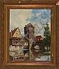 Fritz Stæhr-Olsen: Canal scenery from Henkersteg, Fritz Stæhr-Olsen, Click for value