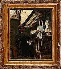 E. Rasmussen Eilersen: An artist in his studio,