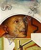 Wilhelm Freddie: Portrait. Signed Freddie dec. 1950. Oil on canvas. 46 x 38 cm., Wilhelm Freddie, Click for value