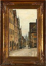 Peter Tom Petersen: Street scene from Rothenburg.
