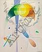 Vilhelm Bjerke-Petersen: Composition. Signed v.b.-petersen- 47. Oil on canvas. 61 x 50 cm.