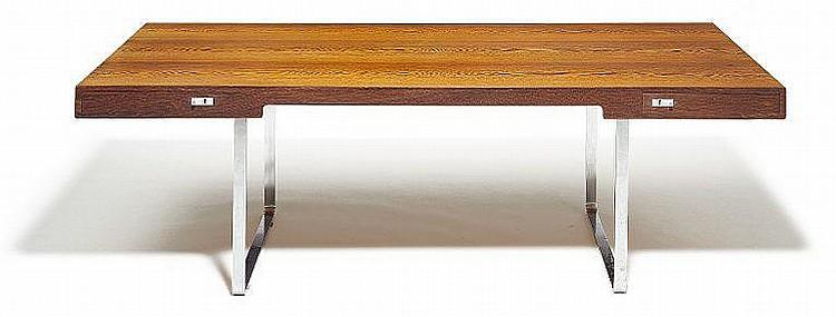 Hans J. Wegner: Freestanding writing desk of wengé. L. 220 cm.