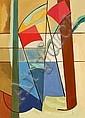Vilhelm Bjerke-Petersen: Composition. Signed v.b.-p. 32. Oil on canvas. 84 x 61 cm.