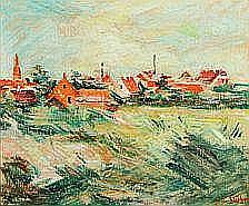 William Stuhr: View from Skagen. Signed Will.