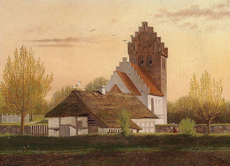 Constantin Hansen: Kværkeby Church near Ringsted.