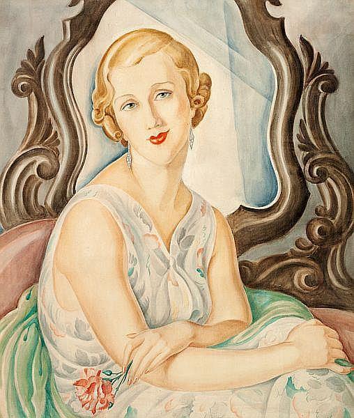 Gerda Wegener: Lady in front of a mirror.