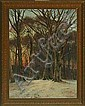 Carl Milton Jensen: Wintry forest with a walking, Milton Jensen, Click for value
