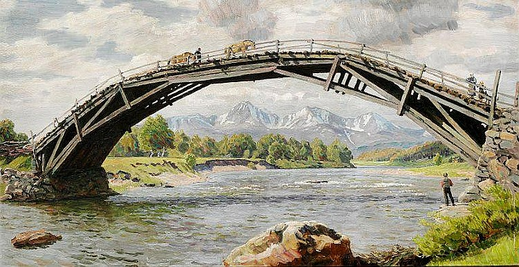 """Niels Skovgaard: """"Broen og Fjældene""""."""